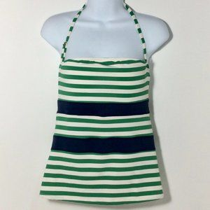 Swimsuit Top Only Green / Blue / White Sz M